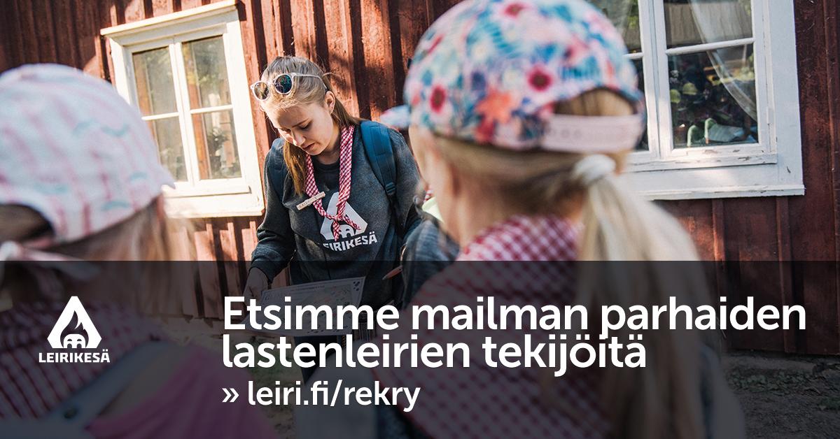 Leirikesä ry työllistää yli 200 nuorta vuosittain leirien ajaksi - hae meille kesätöihin tekemään maailman parhaita lastenleirejä!